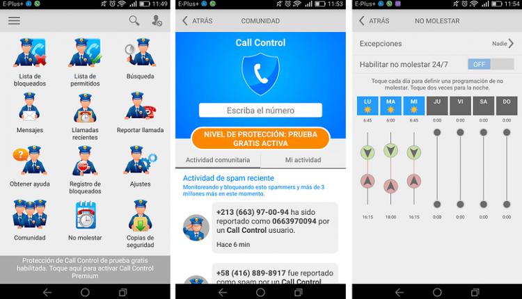 bloquear llamadas con call