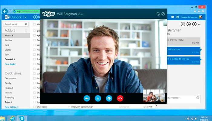 llamar gratis con skype