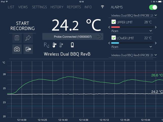 medir la temperatura con el iphone