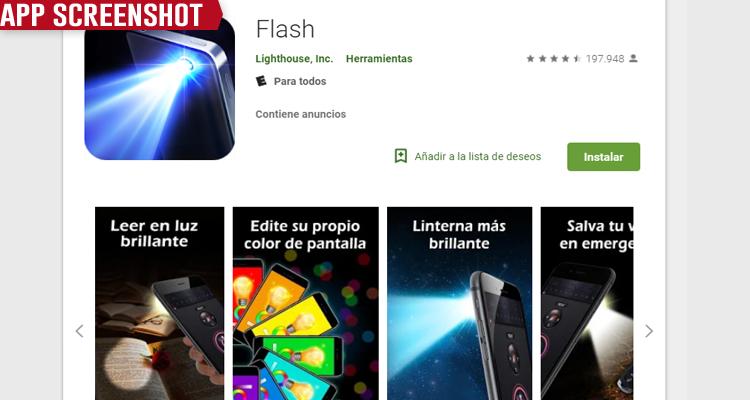 Mejores apps de linterna