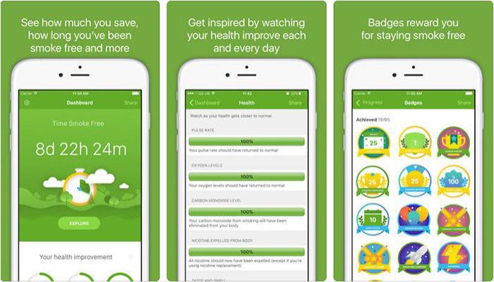 Smoke Free App para dejar de fumar