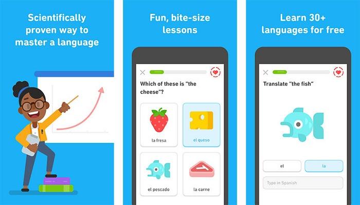 aplicaciones de aprendizaje