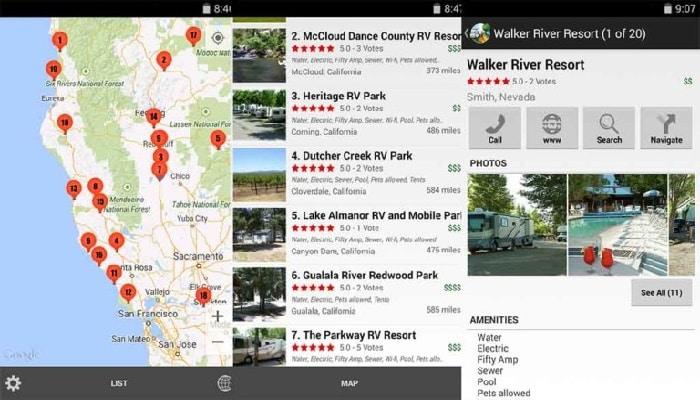aplicaciones para ir de camping