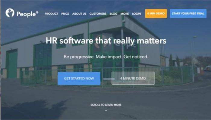 PeopleHR software para recursos humanos basada en la web