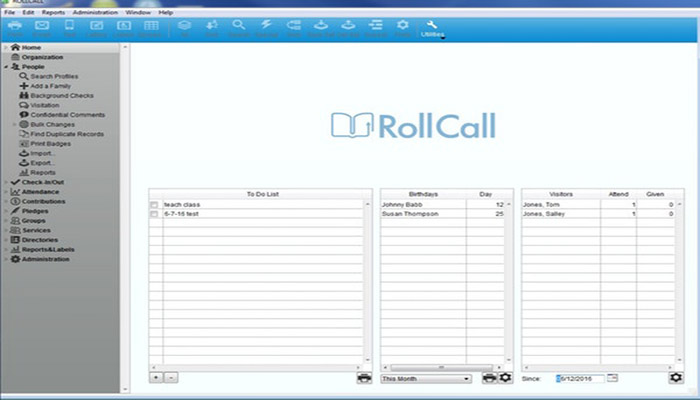 Software para iglesias Roll Call