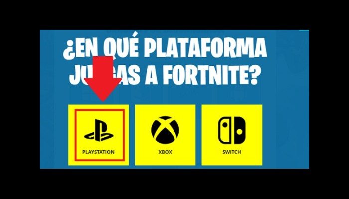 Selecciona la plataforma donde sueles juegar Fortnite