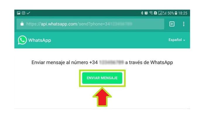 Haz clic en Enviar mensaje