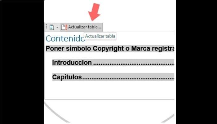"Selecciona ""Actualizar tabla"""
