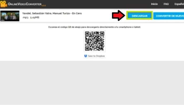 Haz clic en el botón Descargar