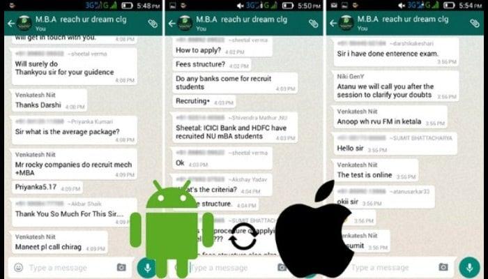 Chats eliminados de WhatsApp
