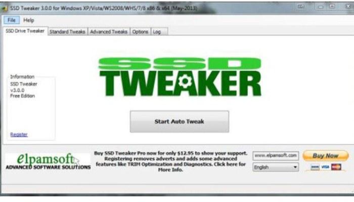 Elpalmsoft tweaker SSD
