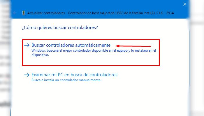 Puertos usb no funcionan windows 10