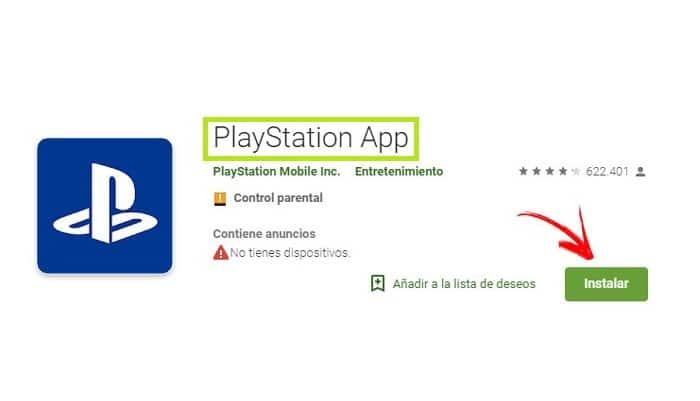 Aplicación PlayStation