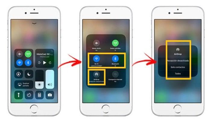 Configuración de Airdrop en iPhone, iPad o iPod Touch