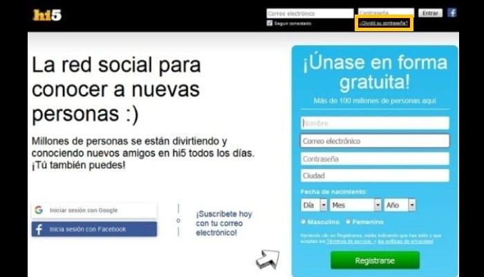 Iniciar Sesión En Hi5 En Español: Restaurar Cuenta Para