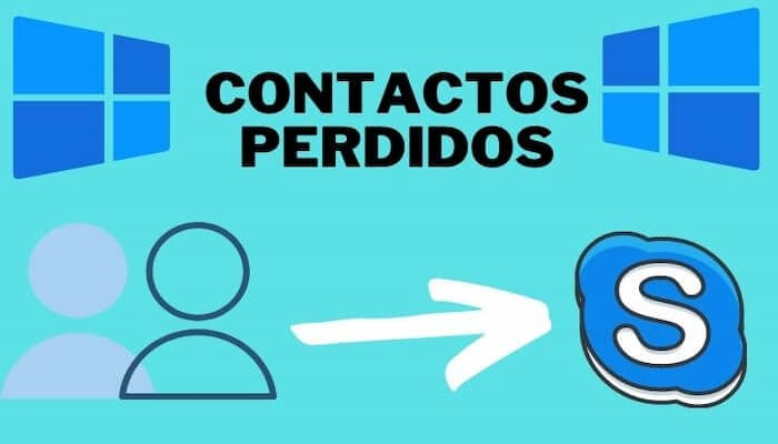 recuperar contactos perdidos en skype