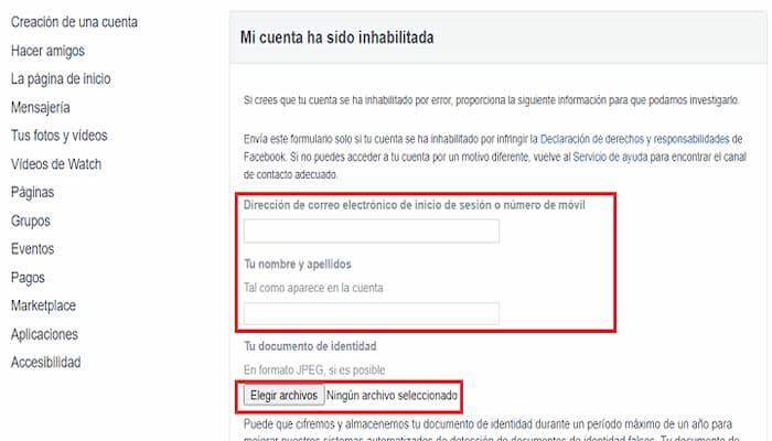 Cómo Recuperar O Reactivar Cuenta De Facebook