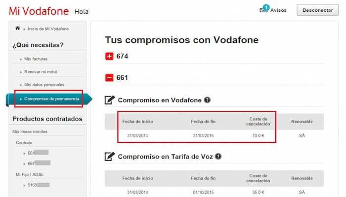 Cómo cancelar el contrato de Vodafone