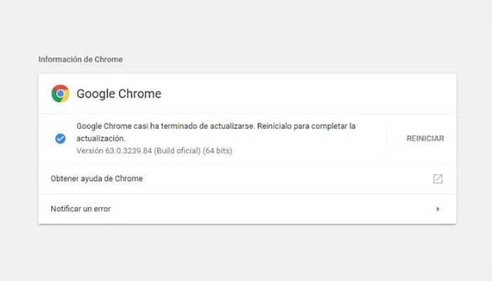 ¿Qué versión de Chrome he instalado?