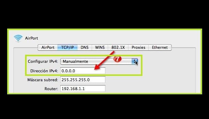Configura la IP