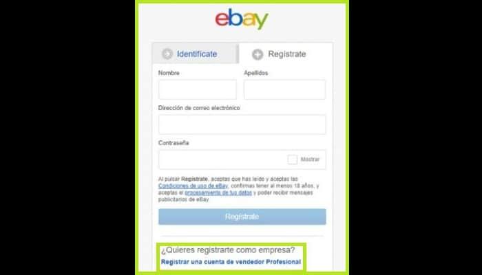 Cuenta Ebay para vender