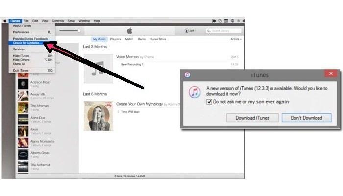 Actualizar iTunes en Mac