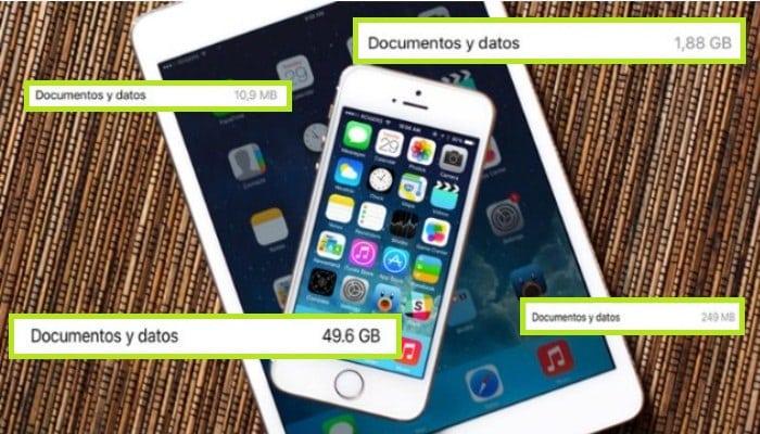 Documentos y datos guardados en el iPhone