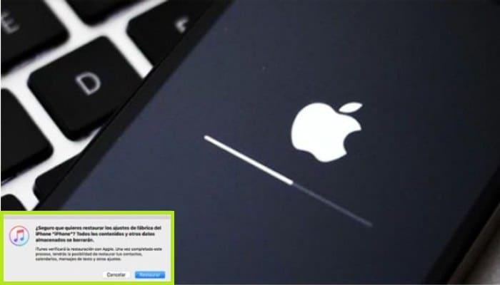 Restablecer los ajustes de fábrica del iPhone