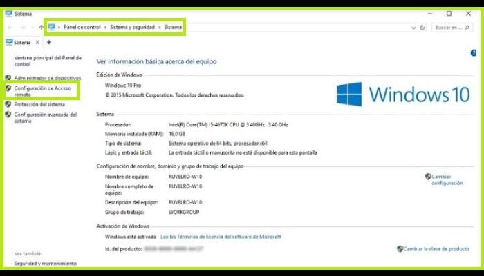 """Haz clic en """"Configuración de acceso remoto"""""""