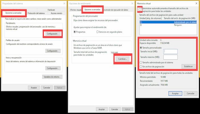 Cómo Aumentar La Memoria Virtual En Una PC