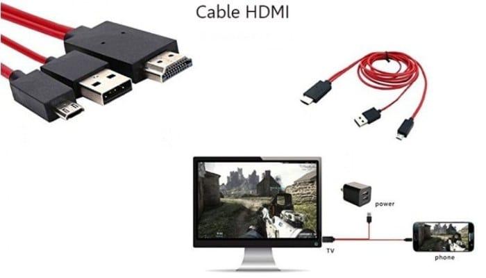 Utilizando un cable HDMI