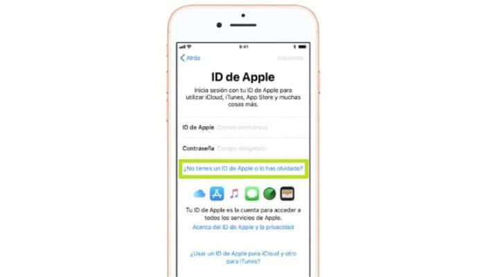 ¿No tienes un ID de Apple o lo has olvidado?