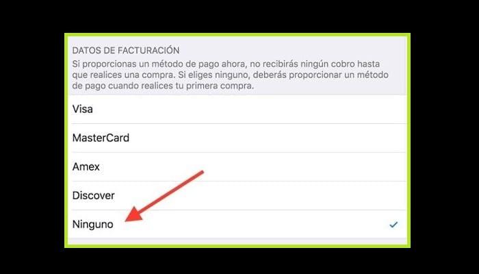 Registrar un ID en Apple sin una tarjeta de crédito
