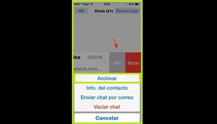 """Elige la opción """"Archivar"""""""