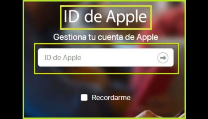 Accede a la página inicial del sistema de ID