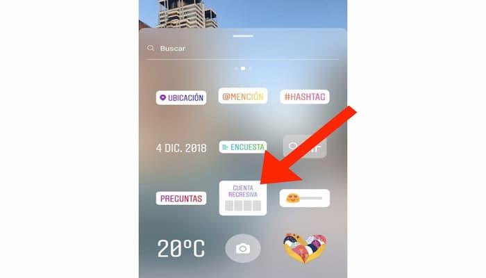 temporizador en Instagram