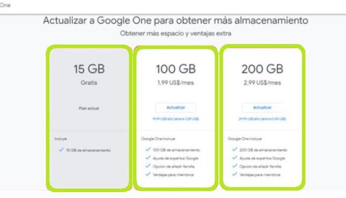 Actualiza Google One