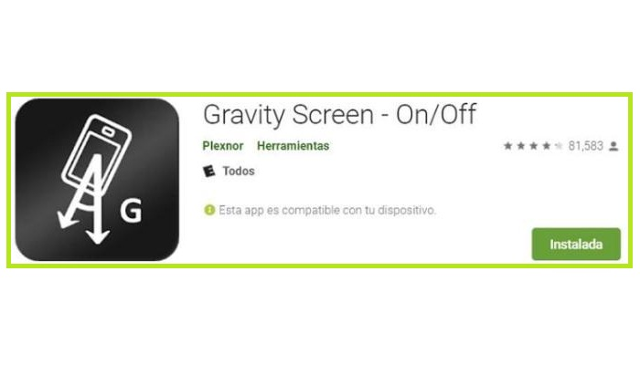 Gravity Screen On-Off