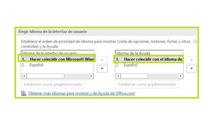 Opciones de interfaz de usuario