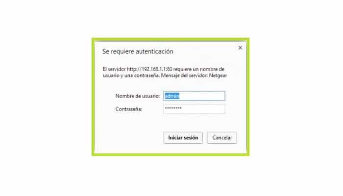 Añade el nombre de usuario y la clave