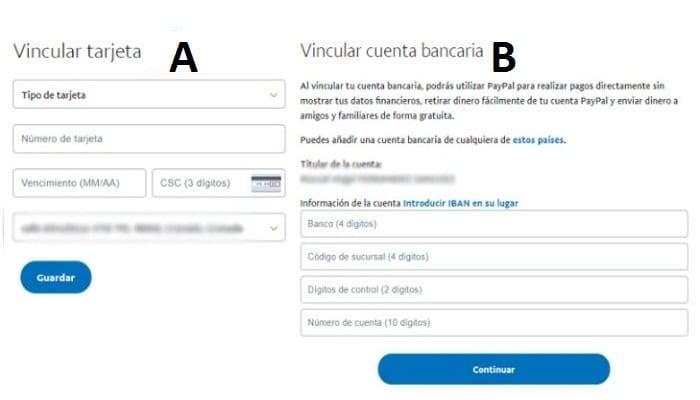 Vincular una tarjeta en PayPal