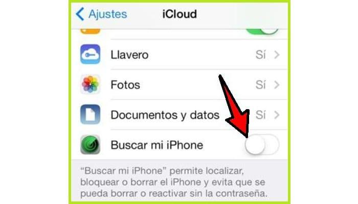 Entra en ajustes de iCloud