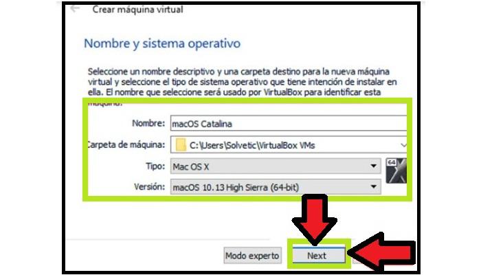 Selecciona Mac OS X