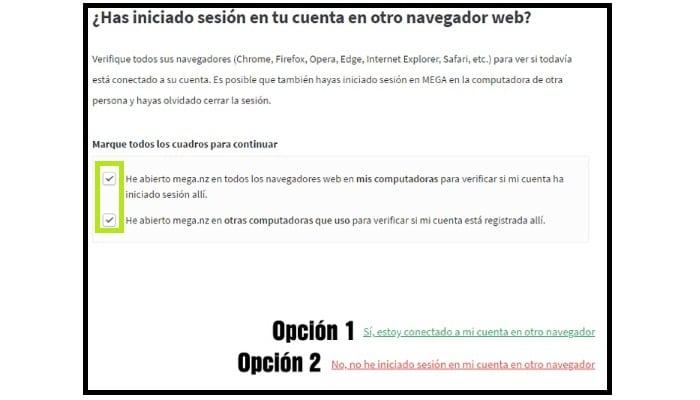 Iniciado sesión en tu cuenta en un navegador web distinto