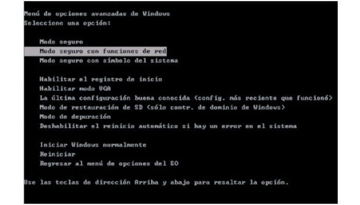 Inicia Windows en modo seguro