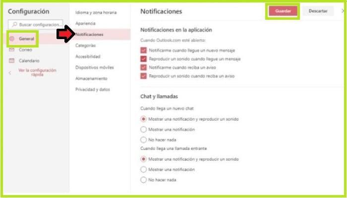 Configurar notificaciones